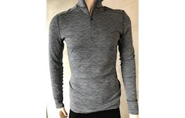Thermowave Herre trøje med 1/2 lynlås, grey melange/blue